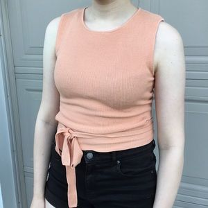 Zara peach coloured knit top size medium
